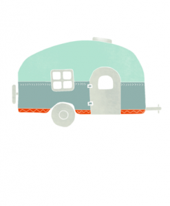 Vintage Airstream Illustration by Hazelmade | Cute Illustrations Greeting Cards | Handmade Card Sets