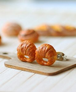 Croissant Studs Earrings 2 | Food Jewelry