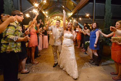 Sparklers at a Wedding | Alternatives to Throwing Rice at Your Wedding Exit | Don't Throw Birdseed at Your Wedding | Handmade Weddings A Bridal Event in Houston TX