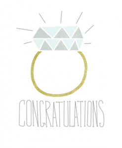 Diamond Ring Congratulations Card | Handmade Engagement Cards | Greeting Cards at Pop Shop America