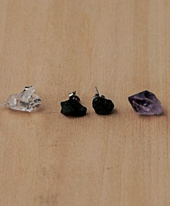 Potions Stud Earrings | Raw Gemstone Earrings | Quartz Earrings | Tourmaline Earrings | Amethyst Earrings