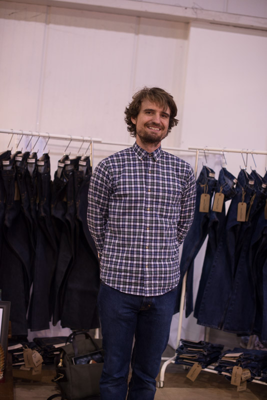 Jeremy Lammerding of Onshore Workwear Handmade Denim Jeans from Houston TX | Fashion in Houston at Pop Shop Craft Fair Black Friday Weekend Shopping November 2015