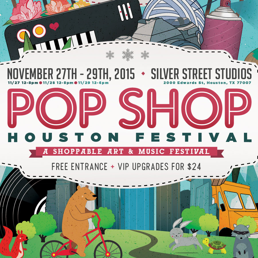 Pop Shop Houston Nov. 2015 Festival Poster