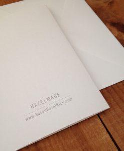 Back of Hazelmade Illustrated Greeting Cards Shop Handmade Cards