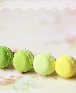 Green Macaron stud Earrings Kawaii Jewelry Food Earrings