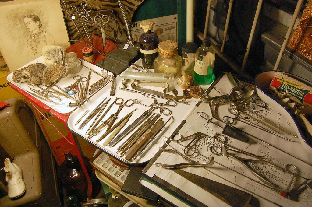 Vintage Medical Equipment at the Place Upstairs Oddities Shop Houston   Weird Antiques and Vintage Houston