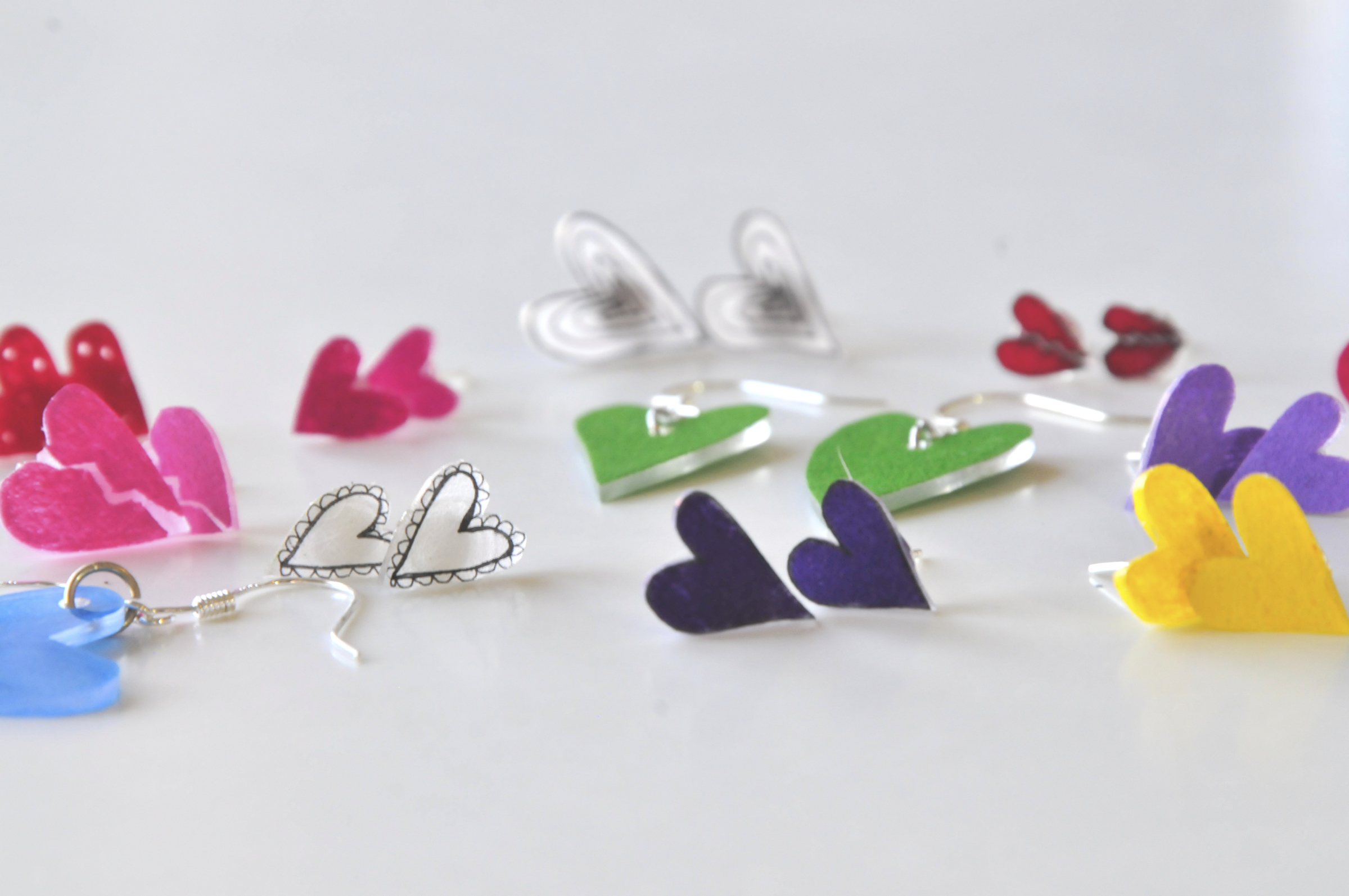 Hero How to Make Heart Earrings Rainbow Earrings Pop Shop America Design Shop