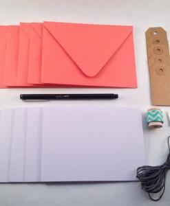 Inside the Orange Stationery Kit Paper Goods at Pop Shop America