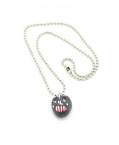 Kawaii Black Skull Necklace