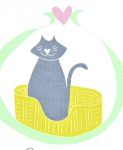 cat lady card detail