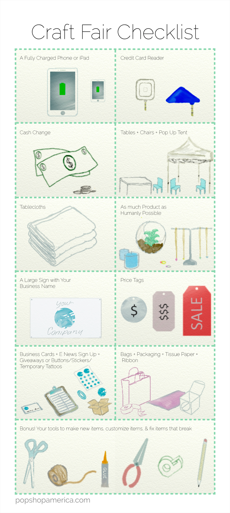 What To Bring To A Craft Fair Printable Checklist