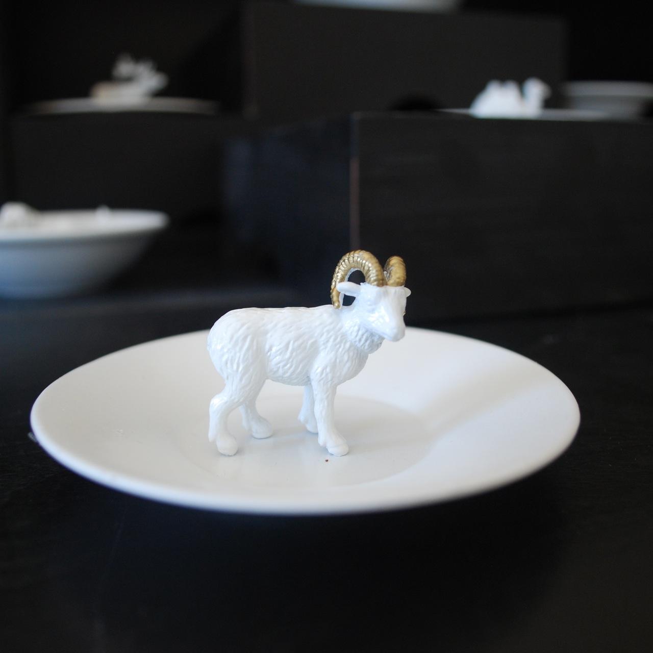 gilded animal ring dish