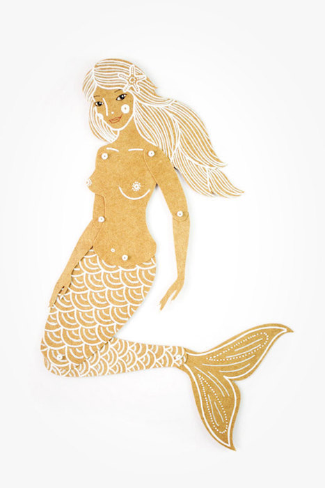MD Paper Dolls | Paper Mermaid by Maria Dubrovskaya