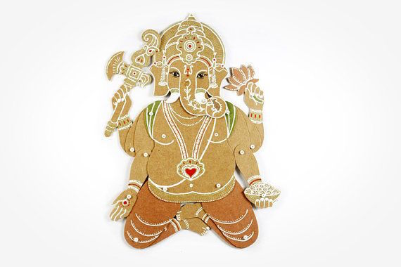 MD Paper Dolls | Ganesh Paper Sculpture by Maria Dubrovskaya