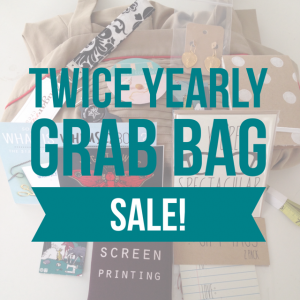 twice yearly grab bag sale