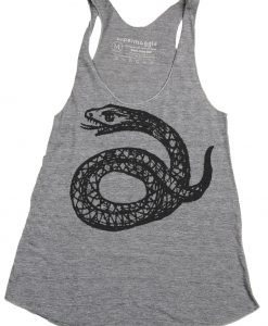 Supermaggie Coiled Snake Tank | Racerback Tanks at Pop Shop America Online Boutique | Handmade Screenprinted T Shirts | Made in Texas by Supermaggie