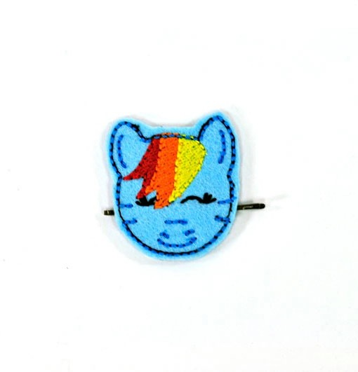 rainbow-dash-barrette | My Little Pony Hair Clip | Handmade Hair Accessories shop now at Pop Shop America