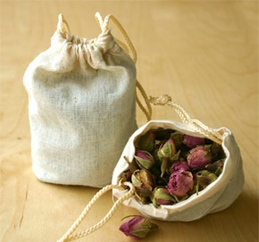 dried flower muslin bags craft class