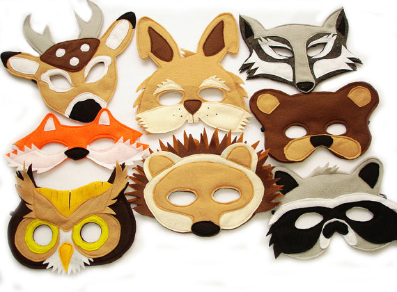 felted animal masks art class