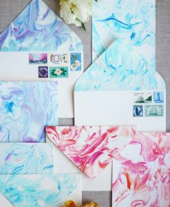 marbled stationery diy craft ideas
