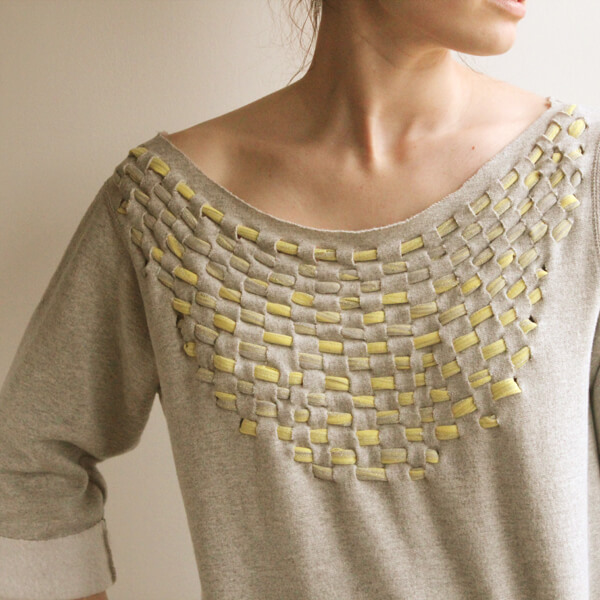 jersey weave sweatshirt by the forge style no sew t-shirt alterations