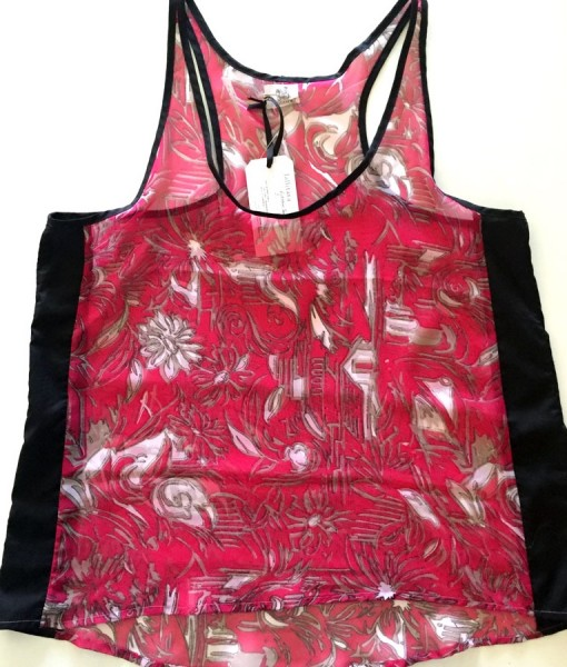 big pink floral rickshaw tank top
