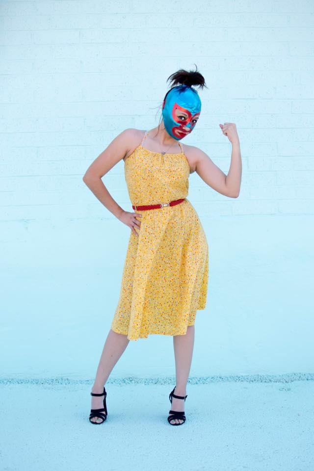 lady luchador vintage clothing fashion photos houston