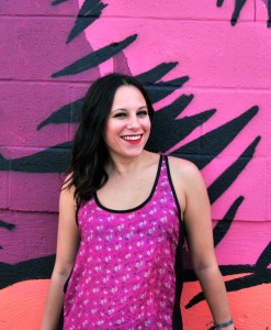 super-cute-michelle-wearing-hot-pink-floral-rickshaw-tank
