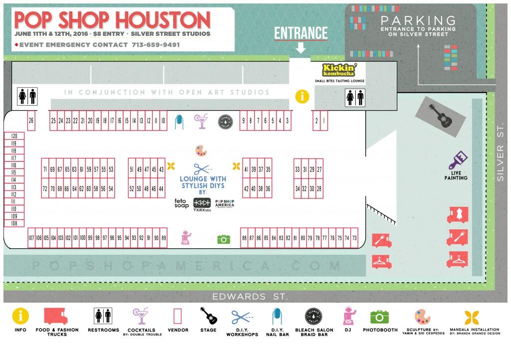 Pop Shop Houston Summer Festival Map Craft Fair Art Market Pop Up Shop Houston