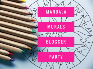 mandala mural blogger party after party