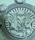Detail of Yoda T-Shirt   Star Wars T-Shirt Detail Pop Shop America