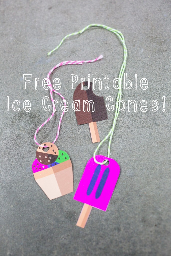 free printable ice cream cone pinterest graphic with text