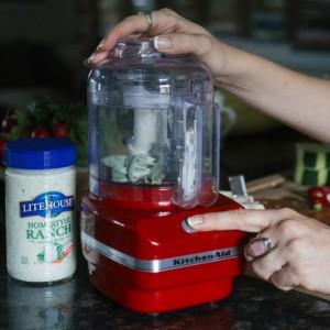 veggie skewers recipe blend herbs in a food processor
