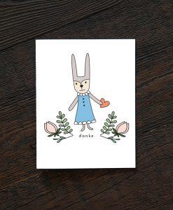 danke bunny thank you card pop shop america