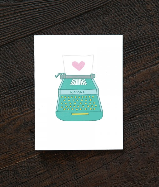 love letter & typewriter card pop shop america greeting cards