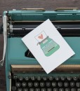 styled photo love letter & typewriter handmade greeting card