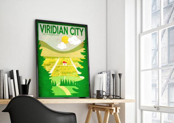 viridian city art poster by harknett prints