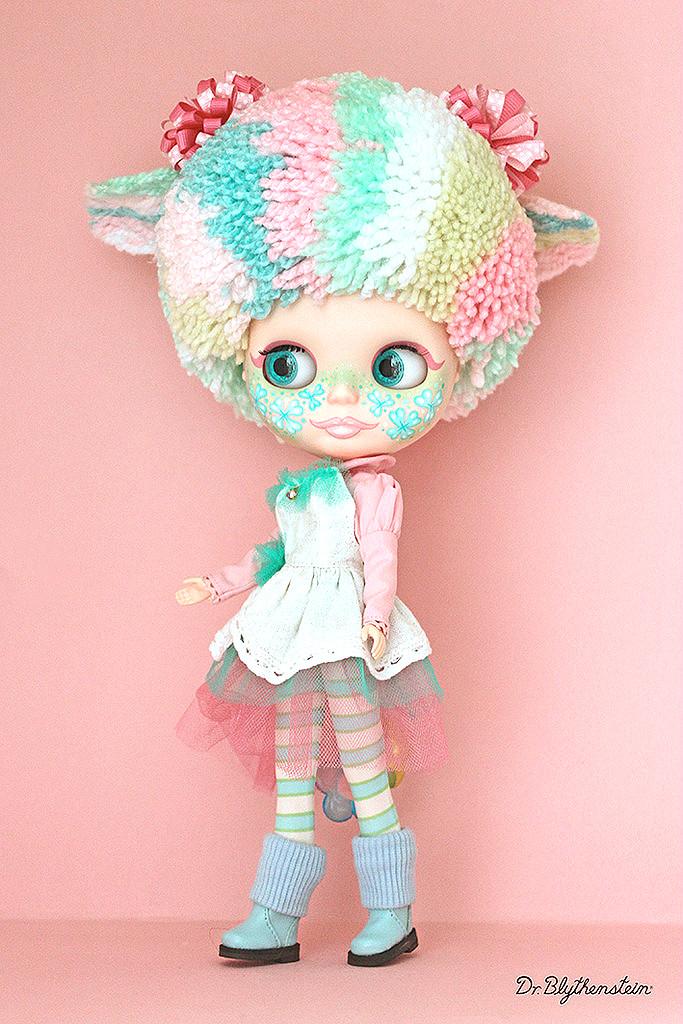 Dr Blythenstein's Multicolor Pink Blythe Doll Creation