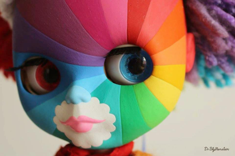 Dr Blythenstein Rainbow Face Paint Blythe