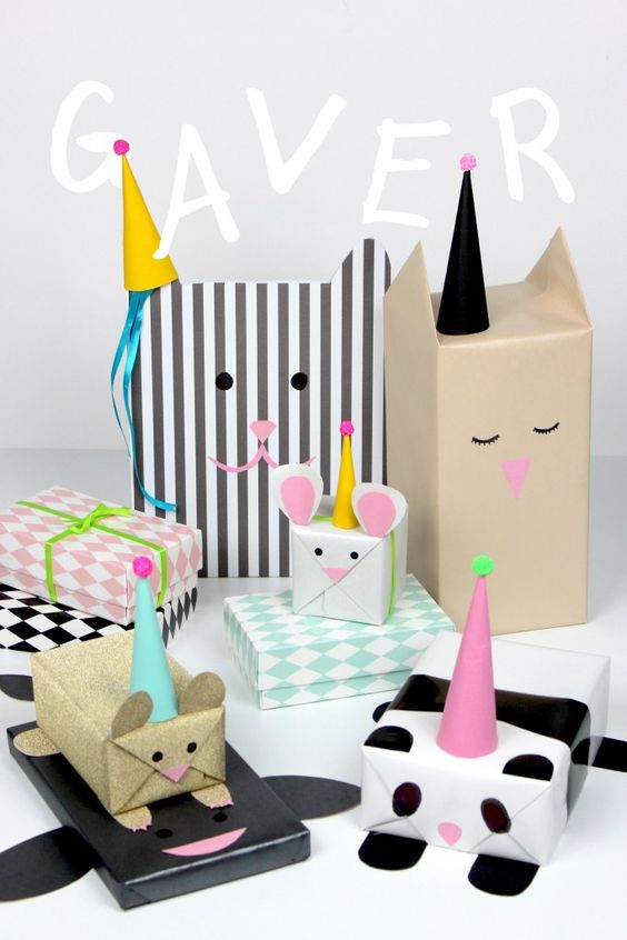 animal gift wrapping diy packaging ideas from pop shop america