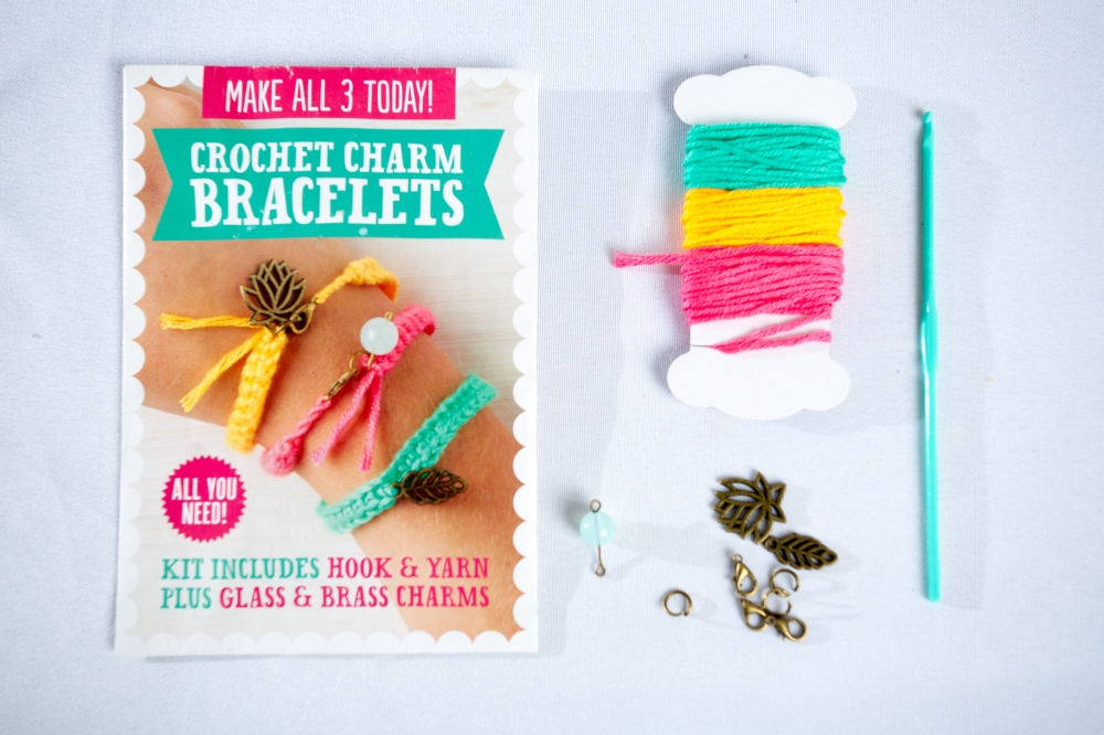 crochet charm bracelets mollie makes craft kit
