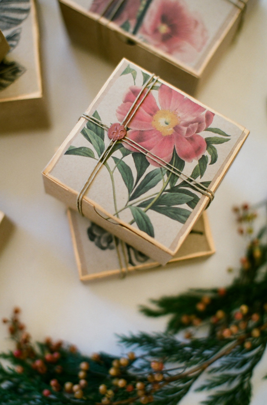 flower and gold leafed packages pop shop america