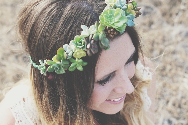 succulent crown flower crowns from the pop shop america blog