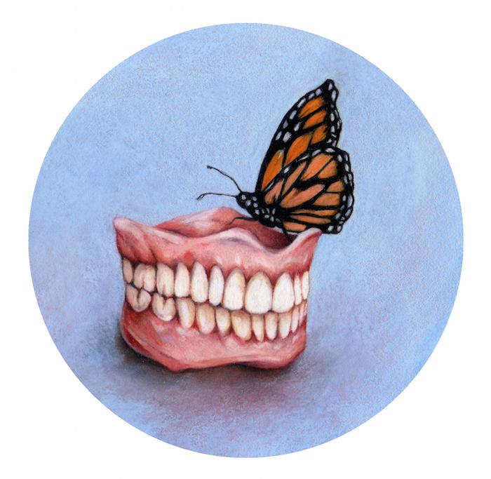 Teeth Study Painting by Anne Byrd Houston Artist