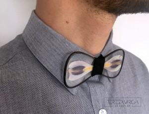glass tie by tereza varga handmade menswear