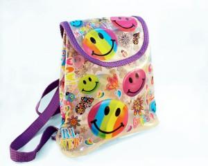 lisa frank smiling faces backpack