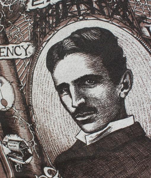 portrait of nikola tesla t-shirt vincent fink