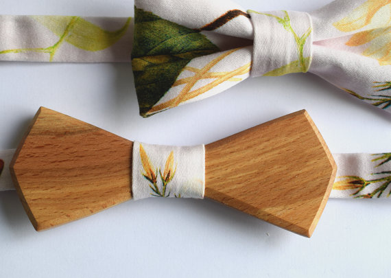 wooden bow tie by tereza varga