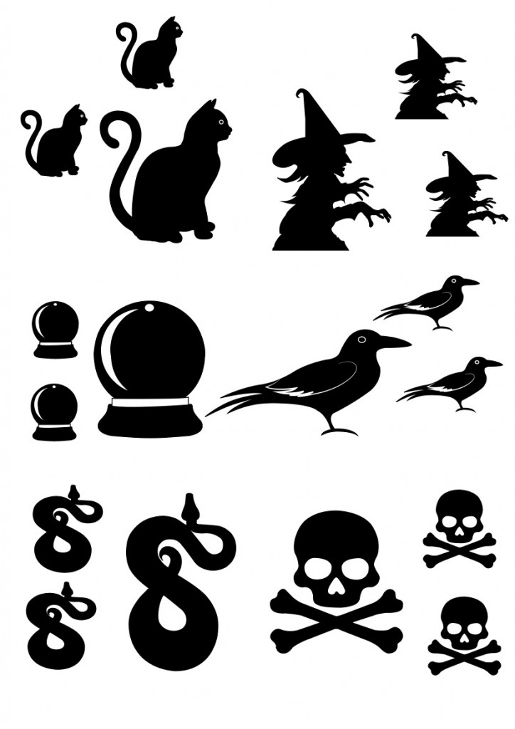 black and white halloween shrinky dink printables jpeg