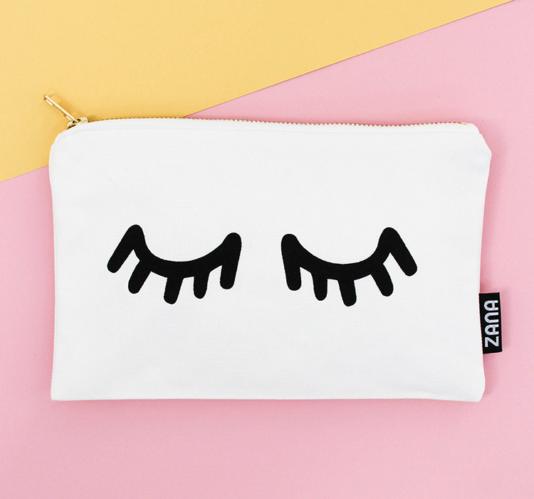 zana eyes canvas clutch handmade accessories